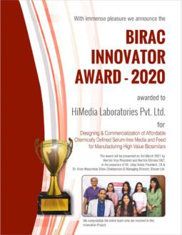 BIRAC Innovator Award für HiMedia