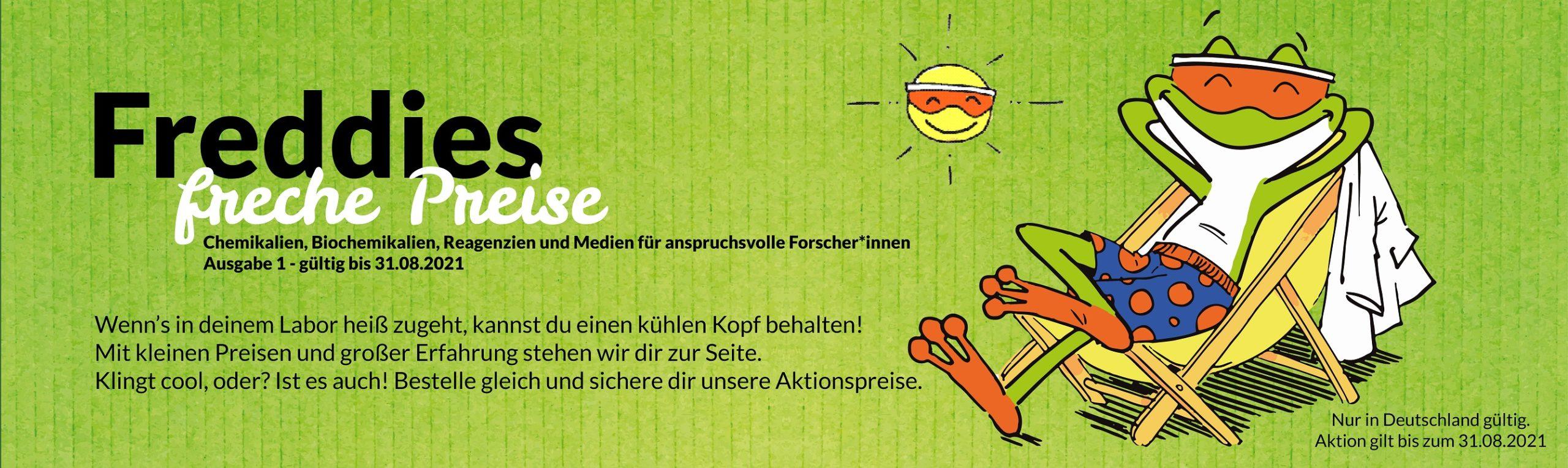 Freddies freche Preise - Sommeraktion gültig bis 31.08.2021