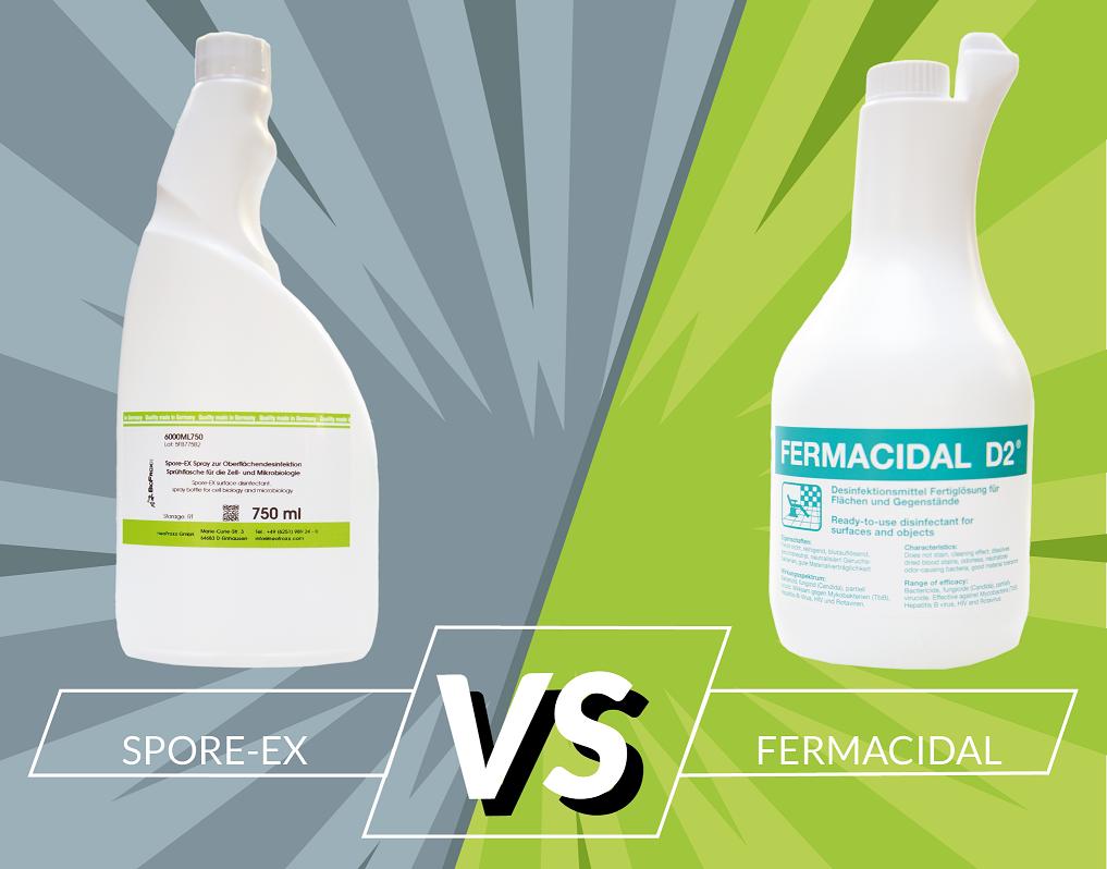 Fermacidal und Spore-Ex im direkten Vergleich